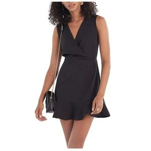 Sleeveless A-line Dress with Surplice Neckline